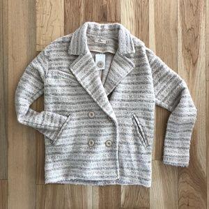 Elodie Knit Button Up Blazer Jacket, Medium NEW!